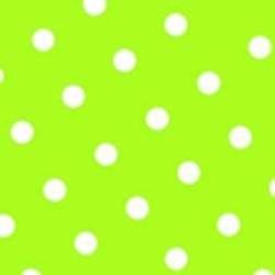 """Papstar Servietten, 3-lagig,1/4-Falz,40 cm x 40 cm, Farbe: limonengrün, Motiv: """"Dots"""", 1 Packung = 20 Stück"""