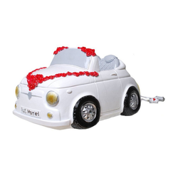 Udo Schmidt Bremen...das Original Spardose XXL Spardose Mini Cabrio Hochzeit 23 cm Sparschwein