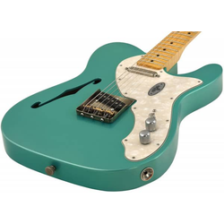 MAYBACH Teleman Thinline 68 Teal Green Metallic - E-Gitarre