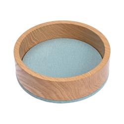 HEY-SIGN Organizer Ablageschale Bowl Ø 13,5 cm aus Filz/Holz; Taschenleerer, Schlüsselablage, Schmuckablage; Made in Germany blau