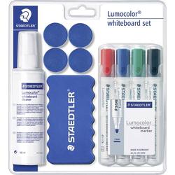 Staedtler 613 S Lumocolor Whiteboard Set 613 S Whiteboardmarker Schwarz, Blau, Rot, Grün inkl. Tafe