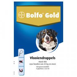 Bolfo Gold 400 hond vlooiendruppels  3 x 4 pipetten