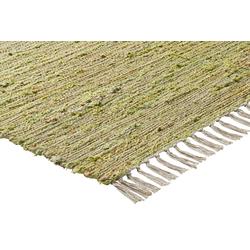 Teppich mit Naturfaser grün ca. 160/230 cm