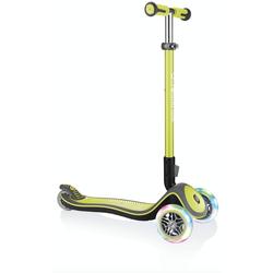 Authentic Sports Globber Elite Deluxe Lights Kinderscooter Roller mit Leuchtrollen Grün
