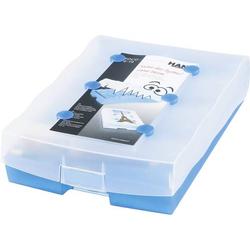 HAN CROCO 9988-643 Lernkartei Blau transluzent max. Anzahl der Karten: 2.000 Karten DIN A8 quer