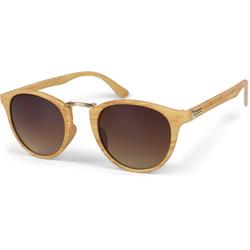 styleBREAKER Sonnenbrille Sonnenbrille Holz Optik Getönt
