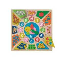LeNoSa Lernspielzeug NCT Puzzle Lernspieluhr • Holzspielzeug für Kinder • spielerisch lernen (24-St)