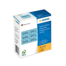 3x1.000 HERMA Klebenummern 4803 nummeriert von 0-999