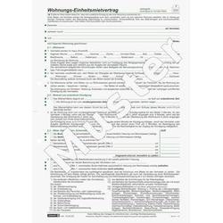 Mietvertrag Einheitsmietvertrag A4 4 Seiten