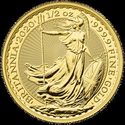 1/2 Unze Gold Britannia 2020