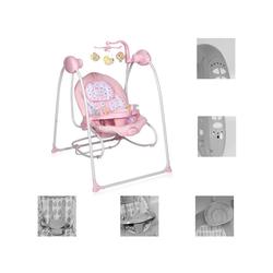 Lorelli Babywippe Babywippe elektrisch Tango 2 in 1, Fernbedienung, MP3, Timer, Mobile rosa