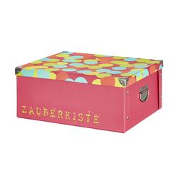 Basispreis* Pappbox  Zauberkiste ¦ rosa/pink ¦ Pappe, Metall ¦ Maße (cm): B: 33 H: 17 T: 40