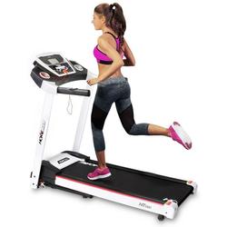 Miweba Sports Laufband HT1000, Incline 6% - Klappbar - 3,5 PS - 16 km/h max. - Tablet Halterung weiß