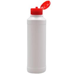Rundflasche mit Klappscharnierverschluss