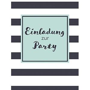 Einladungskarte - Party Streifen - 10,5 x 14,5 cm