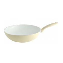 Fissler Ceramic Wok Pfanne 28cm white,