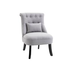 HOMCOM Sessel Relaxsessel mit Rückenkissen grau