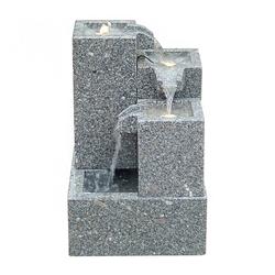 Dehner Gartenbrunnen Cascada mit LED, 65 x 43 x 43 cm, Granit
