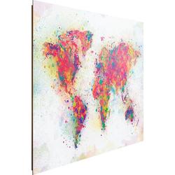 Deco-Panel Weltkarte Farbenmix