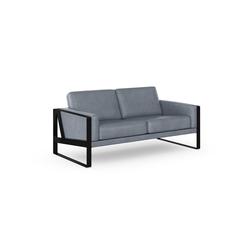 machalke® 2-Sitzer frame, Ledersofa mit Kufe in Schwarz blau