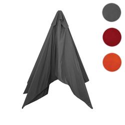 Bezug für Sonnenschirm Florida, Sonnenschirmbezug Ersatzbezug, 3x4m Polyester 6kg ~ anthrazit