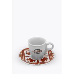 Caffè A. Nannini Espressotasse mit roter Untertasse