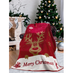 Wohndecke Weihnachten Merry Christmas, SEI Design, Plaid Kuscheldecke