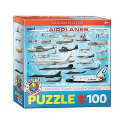 EUROGRAPHICS Puzzle Eurographics 6100-0086 Flugzeuge 100 Teile Puzzle, Puzzleteile bunt