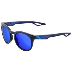 100% Sonnenbrille 100percent Campo Sonnen-Brille erstklassige Herren Sport-Brille in Retro-Optik Made in Italy Freizeit-Brille Schwarz/Blau
