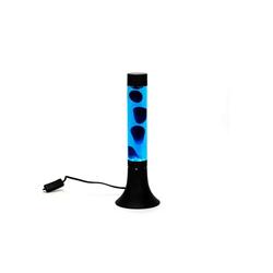 Licht-Erlebnisse Lavalampe YVONNE Lavalampe Blau mit Kabelschalter stylisch 38cm Tischlampe Lampe