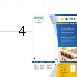 Herma 4377 Etiketten (A4) 105 x 148mm Papier Weiß 400 St. Extra stark haftend Wetterfeste Etiketten