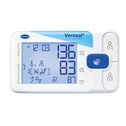 Veroval® duo control Oberarm - Blutdruckmessgerät, Vollautomatische Blutdruck- und Pulsmessung am Oberarm, 1 Messgerät mit Aufbewahrungsetui aus Neopren, Größe M