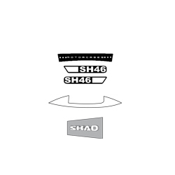 "SHAD SH46 ""SHAD"" STICKERS"