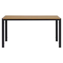 ebuy24 Gartentisch Noma Gartentisch 150 x 90 cm, schwarz und teak Dek