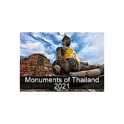 Monuments of Thailand 2021 (Wall Calendar 2021 DIN A4 Landscape)