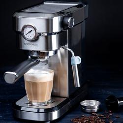 """GASTRONOMA Espressomaschine 18110001 Espressomaschine Siebträgermaschine mit 15 Bar Druck und Milchaufschäumer Espresso Siebträger-Maschine """"Baristo"""""""