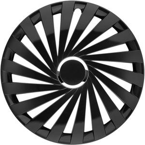 in.pro. engineering Radzierblende Warrior 17 Zoll Schwarz glänzend mit Chromring Set 4 Stück