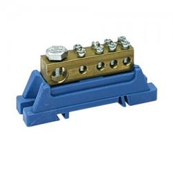 PE-Klemme blau für Hutschiene 46.31 E-P 7188