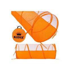 KIDIZ Spielzelt Spielhaus Babyzelt 200 Bälle Bällebad Kinderzelt Zuhause Garten Tasche Tunnel orange