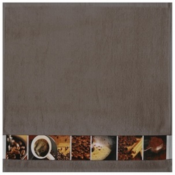 framsohn Geschirrtuch Zwirn ''Kaffee'' 50 x 50 cm Taupe - Braun