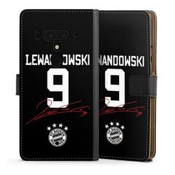 DeinDesign Handyhülle Lewandowski 9 HTC U12 Plus, Hülle FC Bayern München FCB Lewandowski