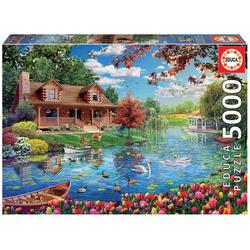 Educa Puzzle HAUS AM SEE, 5000 Puzzleteile