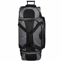 Dermata Reisetasche XXL Rollenreisetasche 95 cm schwarz grau