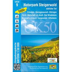 Naturpark Steigerwald südlicher Teil 1 : 50 000 (UK50-9)
