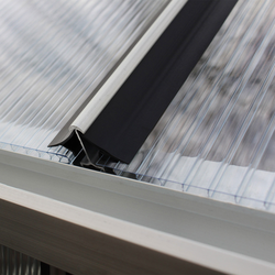 Vitavia Windsicherung für Gewächshausplatten,schwarz,6 mm