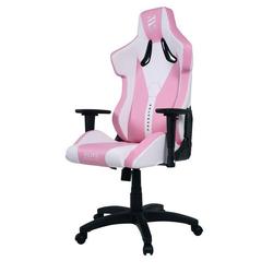miweba Gaming-Stuhl Elite Predator Racing Optik, Stuhl 360 Grad drehbar, Stufenlose Wippmechanik rosa
