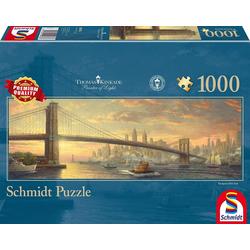 Schmidt Spiele Puzzle Schmidt 59476 - Premium Quality - Thomas Kinkade - Brooklyn Bridge, New York, 1000 Teile Puzzle, 1000 Puzzleteile