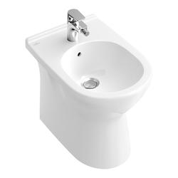 Villeroy & Boch O.novo Bidet 36 × 56 cm bodenstehend mit Überlauf… Weiß Alpin