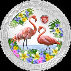 1 Unze Silber Love is Precious Flamingo 2021 Proof-Qualität