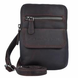 The Chesterfield Brand Sheffield Umhängetasche Leder 12 cm dark brown